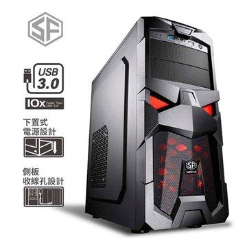 SUNFAR 順發 6006B 2大3小/黑 電腦機殼