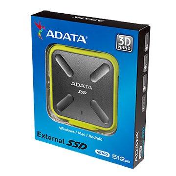 ADATA 威剛 SD700 512G 3D 外接式防水SSD