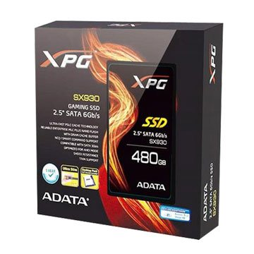 ADATA 威剛 SX930 480G SATA3 MLC SSD附支架-5年