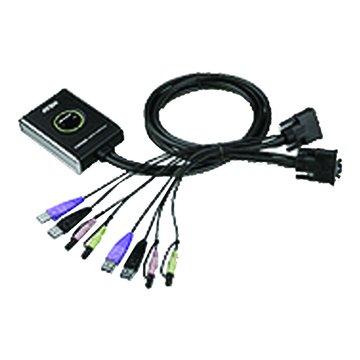 CS682 2埠USB帶線式KVM