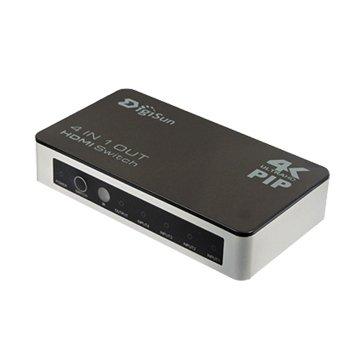 DigiSun 得揚 VH741P 4K2K HDMI四進一出切換器(PIP子母畫面)