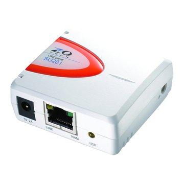 SU201 1埠USB2.0印表機伺服器