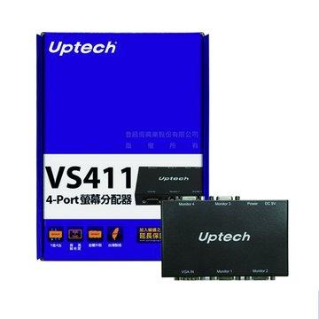 Uptech  VS411 4埠螢幕分配器