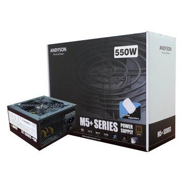 安迪生80plus銅牌550W全日系電容電源供應器