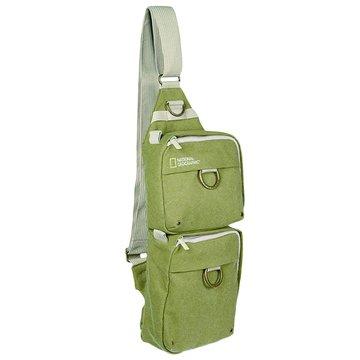 NATIONAL GEOGRAPHIC 國家地理頻道 4475 雙袋斜背包/淺軍綠