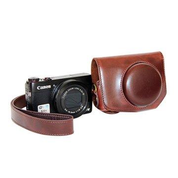 Canon 佳能 G7X副廠復古皮革相機包(不限色)