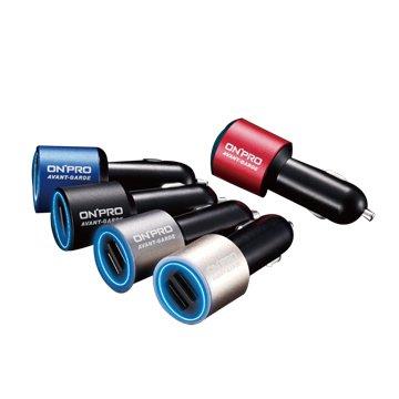 ONPRO 鴻普光電 GT-2P01 4.8A雙USB車用充電器(不挑色)
