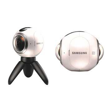 SAMSUNG 三星 SM-C200NZW Gear 360全景相機/ 白