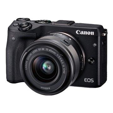 Canon 佳能 EOS M3 KIT EFM15-45黑 輕單眼相機