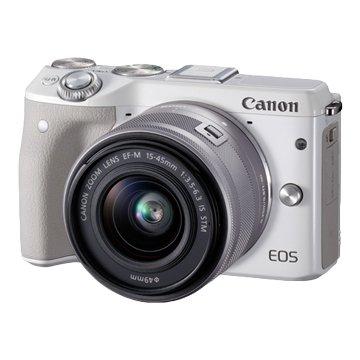 Canon 佳能 EOS M3 KIT EFM15-45白 輕單眼相機