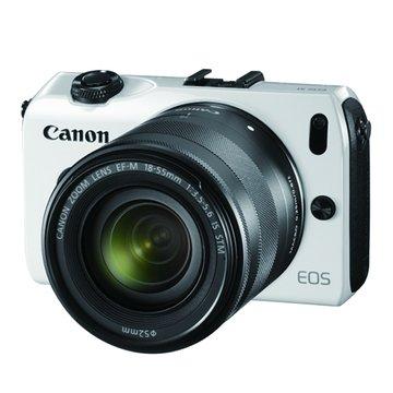 EOS M(雙鏡+90EX閃燈)白 輕單眼相機(福利品出清)