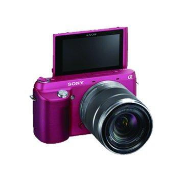 NEX-F3K/PQ桃紅 變焦(18-55) 單眼相機(福利品出清)