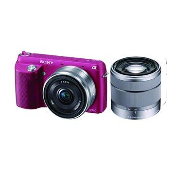 SONY NEX-F3D/PQ桃紅 雙鏡組 單眼相機(福利品出清)