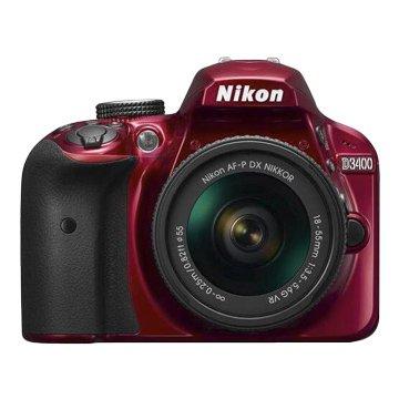 Nikon D3400(18-55mm)紅 單眼相機