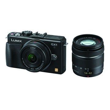 DMC-GX1/W-K黑/雙鏡組 單眼相機(福利品出清)