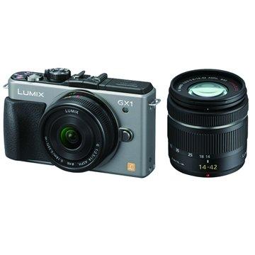 Panasonic  國際牌 DMC-GX1W-S/銀/雙鏡組 單眼相機(福利品出清)