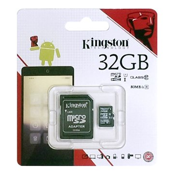 Kingston 金士頓 Micro 32G U1 C10附轉卡(讀80MB/s