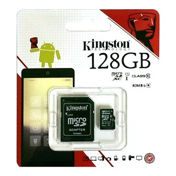 Kingston 金士頓 Micro 128G U1 C10附轉卡(讀80MB/s