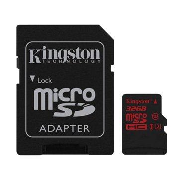 Kingston 金士頓 Micro 32G U3 C10附轉卡(讀90MB/s
