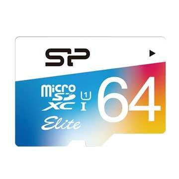 SILICON POWER  Elite Micro 64G UHS-I 高速記憶卡