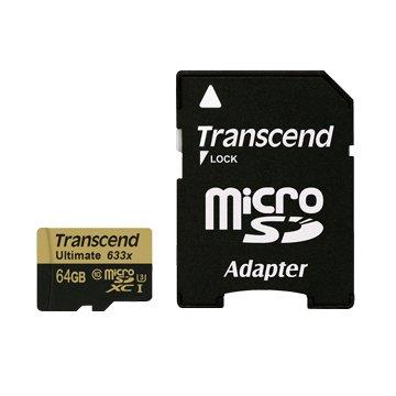 Transcend 創見 Micro 64G U3(讀95寫85MB/s)記憶卡