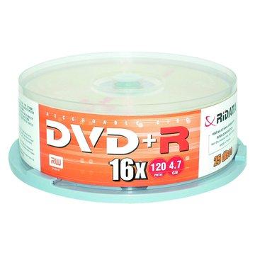 錸德 RIDATA16XDVD+R/4.7G25片+原廠布丁桶