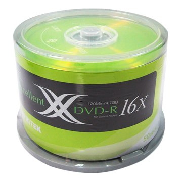 RITEK 錸德 錸德X版 16X DVD-R/4.7G50片+布丁桶