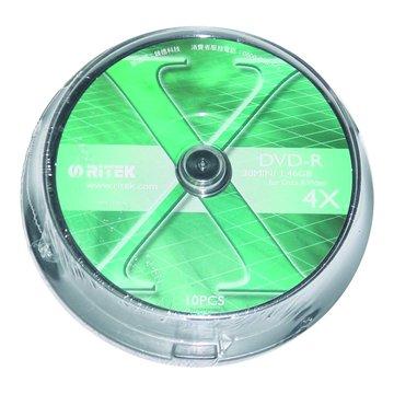 錸德 RITEK 8cm 4X DVD-R/1.4G10片+布丁桶