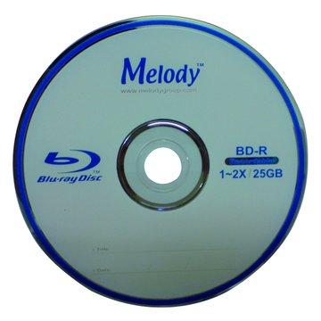 Melody 藍光2X BD-R/25G 135min10片布丁桶