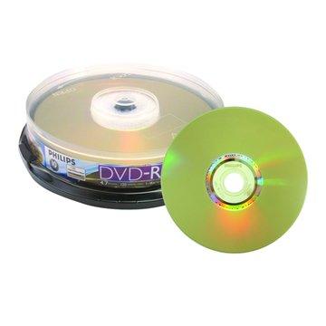 PHILIPS 光雕16X DVD-R/4.7G10片+布丁桶