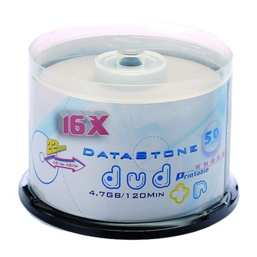 Data Stone  DataStone可印16X DVD-R/4.7G50片+布丁桶