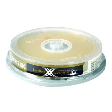 錸德 RITEK 8X DVD+R DL/8.5G10片+布丁桶