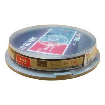 X版 藍光不可印6X BD-R DL 50G/10片布丁桶
