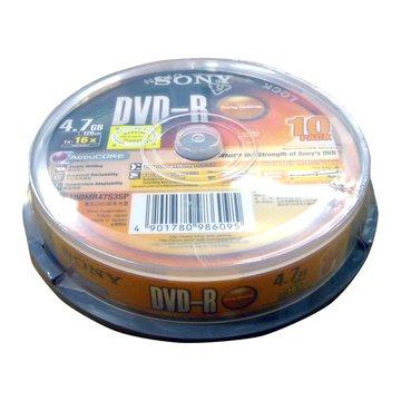 SONY 16X DVD-R/4.7G10片+布丁桶