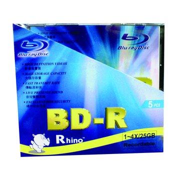 Rhino 藍光4X BD-R/25G120min5片盒裝