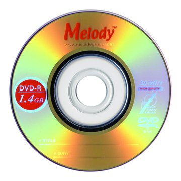 Melody 8cm DVD-R/1.4G10片+布丁桶