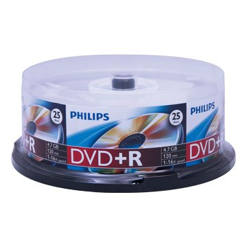PHILIPS 16X DVD+R/4.7G 25片+布丁桶