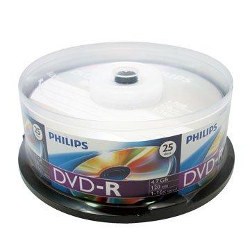 PHILIPS 16X DVD-R/4.7G25片+布丁桶
