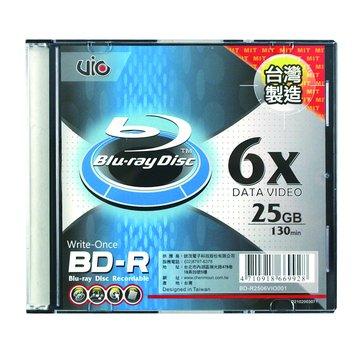 Vio 藍光6X BD-R/25G130min單片裝