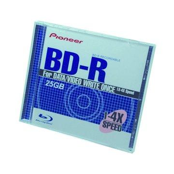 Pioneer 藍光4X BD-R/25G130min單片裝