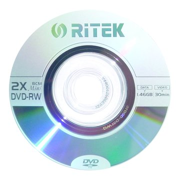 錸德 RITEK 8cm DVD-RW/1.4G單片裝