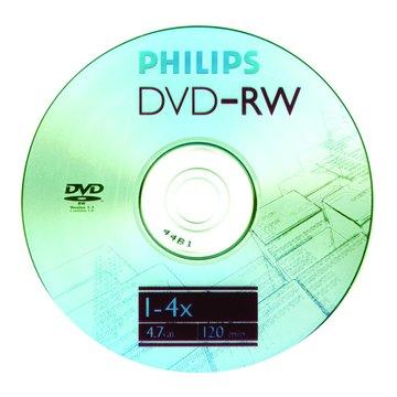 PHILIPS 4X DVD-RW/4.7G10片+布丁桶