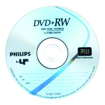 PHILIPS 4X DVD+RW/4.7G10片+布丁桶