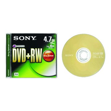 SONY 4X DVD+RW/4.7G單片裝