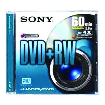 SONY 8cm 4X DVD+RW/60分單片裝