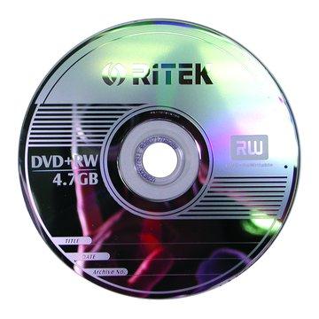 錸德 RITEK 4X DVD+RW/4.7G10片+布丁桶