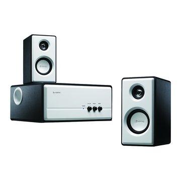 KY-670/雪白黑/木質三件式喇叭