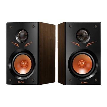 TCS2425/黑橘/二件式木質喇叭/USB供電