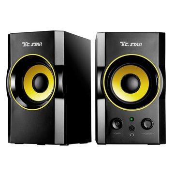 TCS2423/黑金/二件式/木質喇叭/USB供電