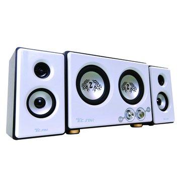 TCS3428/白/三件式多媒體喇叭(福利品出清)
